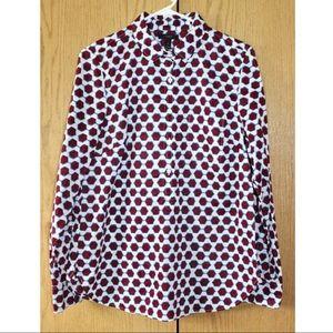 J. Crew printed button down shirt